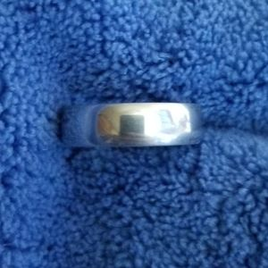 Mens Sterling Silver Band 6mm Ring